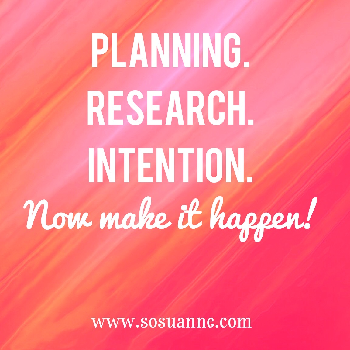 planning research intention