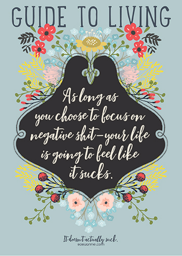 As long as you focus on the negative