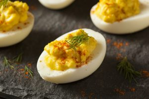 Homemade Spicy Deviled Eggs