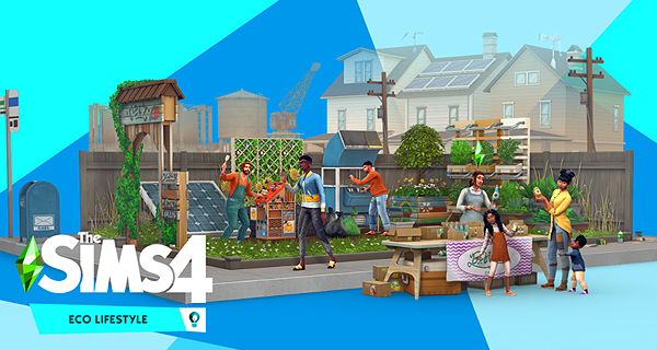 The Sims 4 Eco Living banner