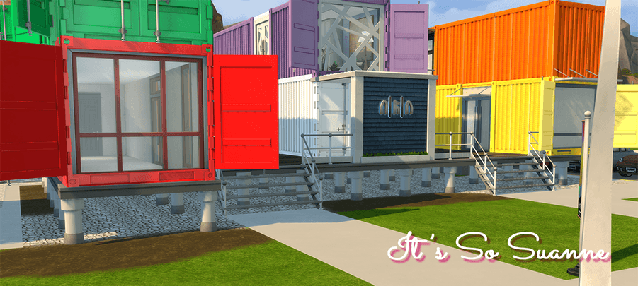 Sims 4 custom content Container homes