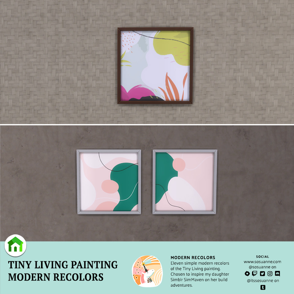 Sims 4 Tiny Living Painting Recolor Custom Content
