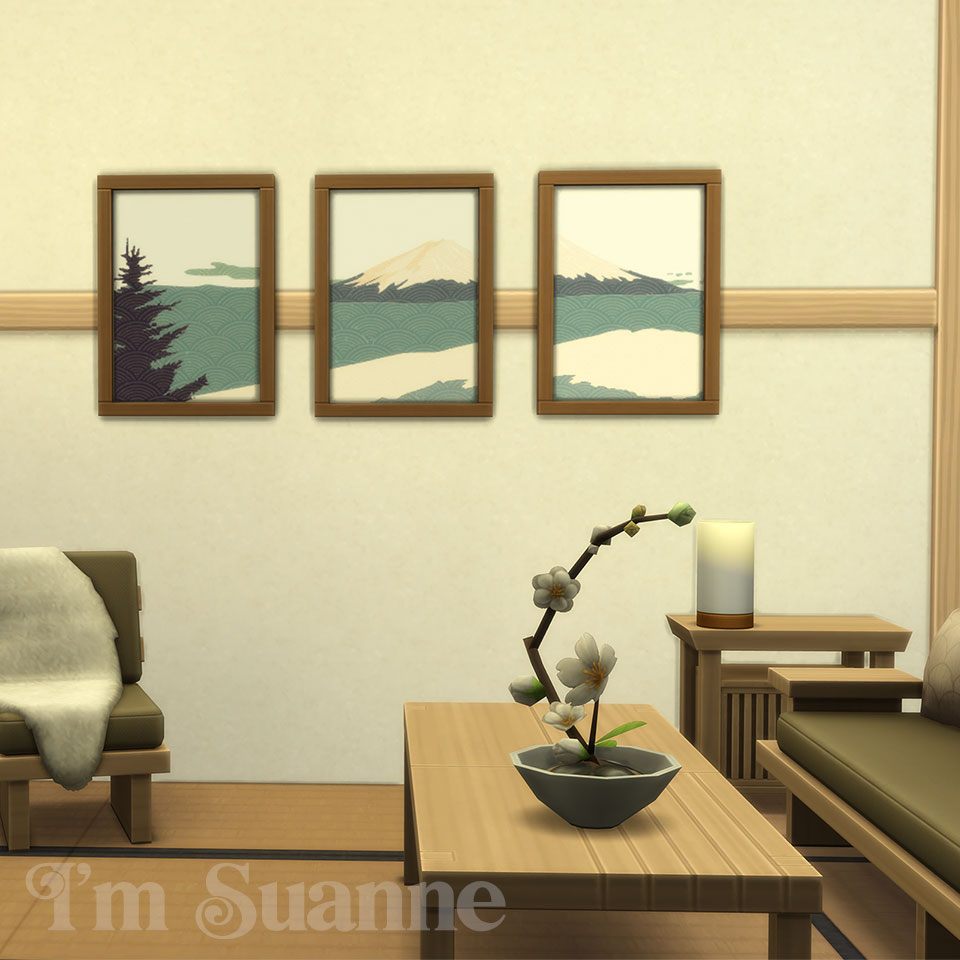 Sims 4 recolor Snowy Escape Painting by Suanne